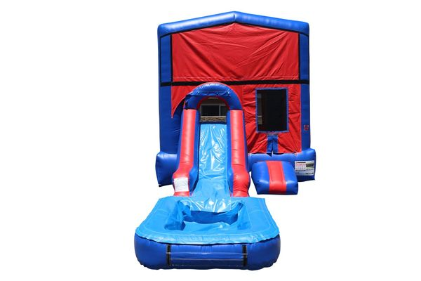 Red & Blue Module Combo Waterslide
